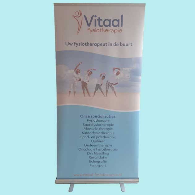 Roll up banner Vitaal