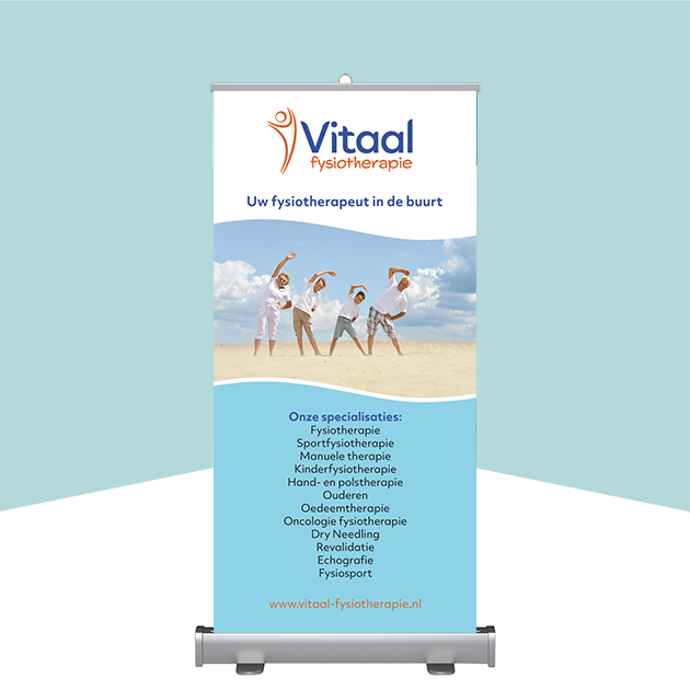 Roll up banner Vitaal fysiotherapie
